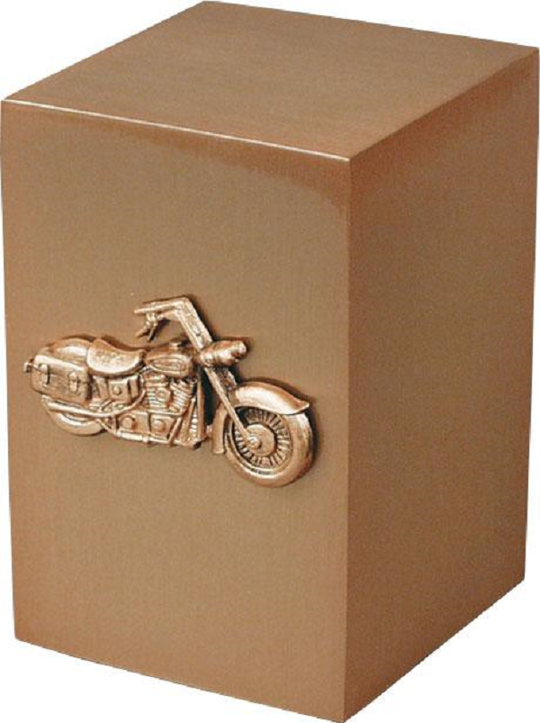 bronze with motorcycle emblem